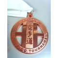 Custom Rectangular Zinc Alloy Soft Enamel Medal with Ribbon